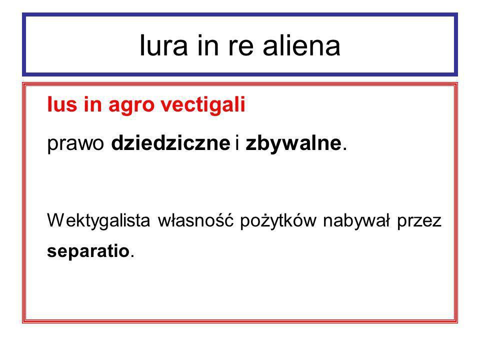 Iura in re aliena Ius in agro vectigali – ochrona; 1.