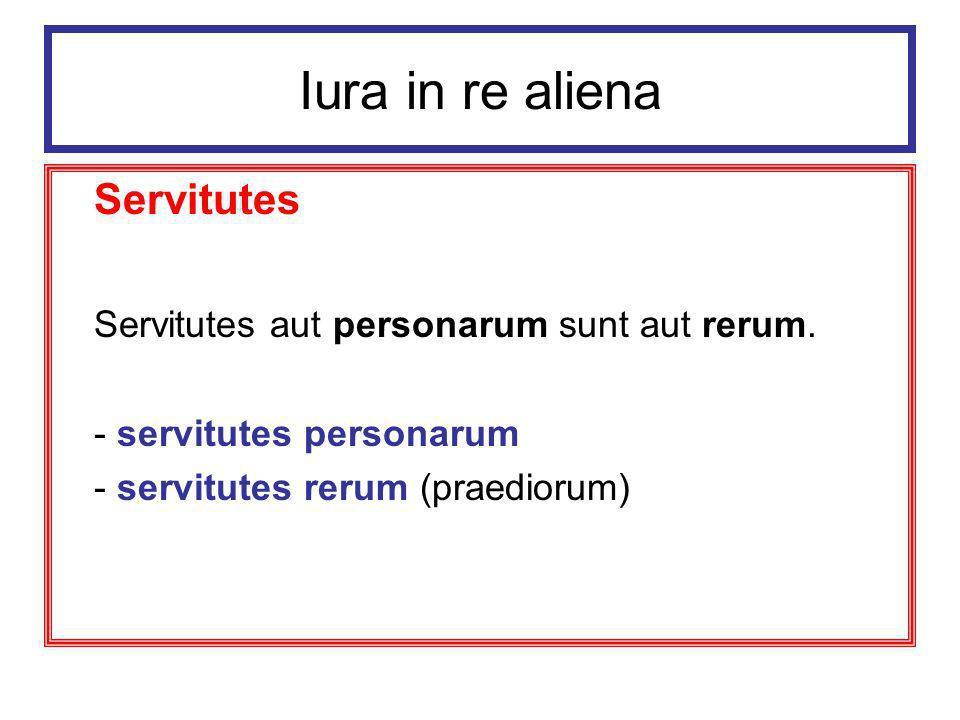 Iura in re aliena Zasady rządzące służebnościami: 1.
