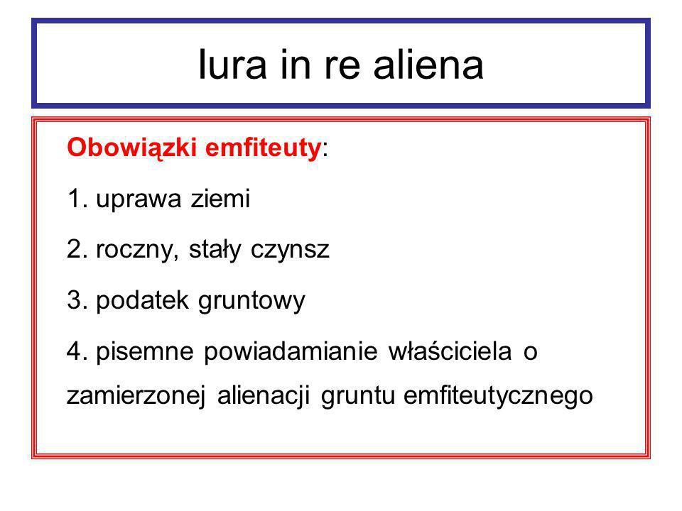 Iura in re aliena ad. 4 ius protimeseos laudemium