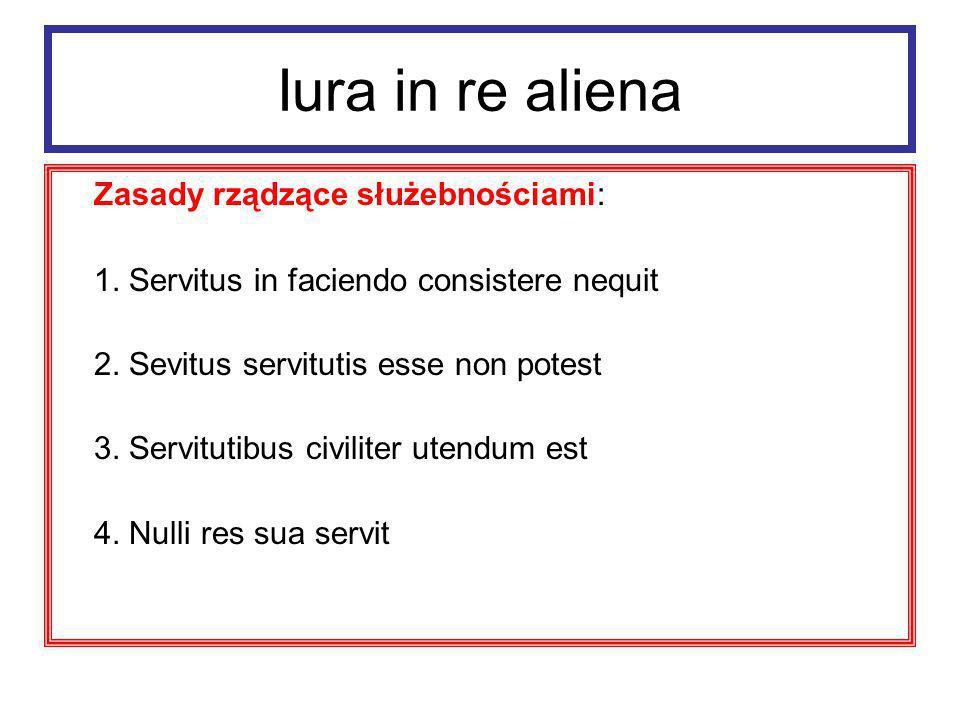 Iura in re aliena Servitutes personarum prawa, w których uprawnienie do korzystania z rzeczy cudzej wiązało się zawsze z konkretną osobą.