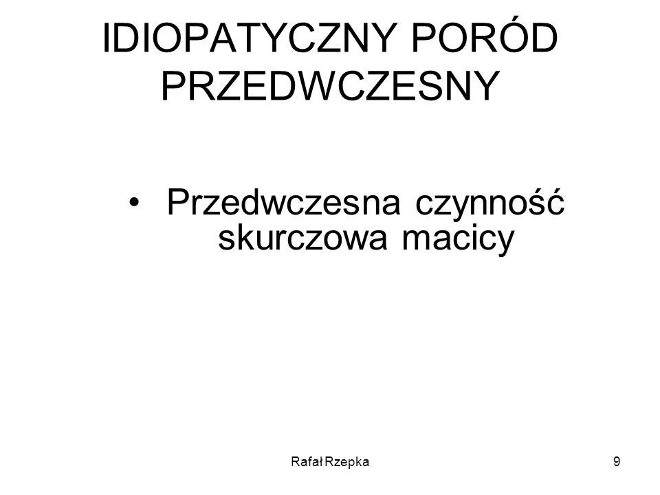 Rafał Rzepka20 ZMIANY SZYJKI MACICY W CZASIE TESTU STRESOWEGO Badanie spoczynkowe Ucisk w okolicy dna macicy