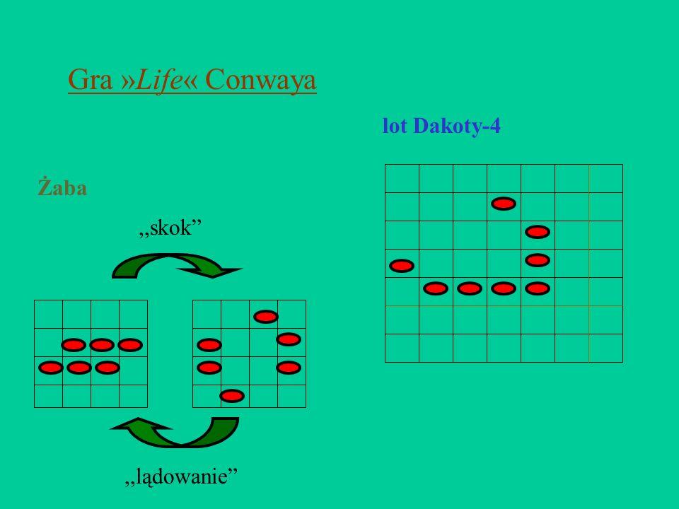Gra »Life« Conwaya,,skok,,lądowanie Żaba lot Dakoty-4