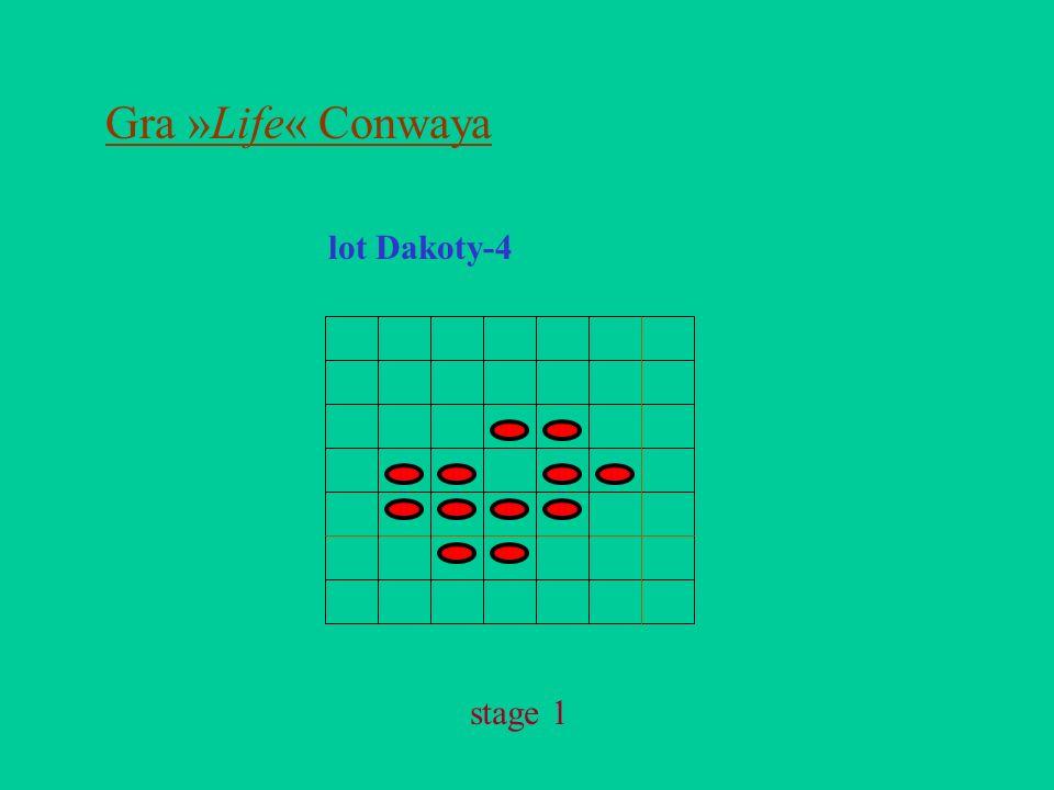 Gra »Life« Conwaya lot Dakoty-4 stage 1