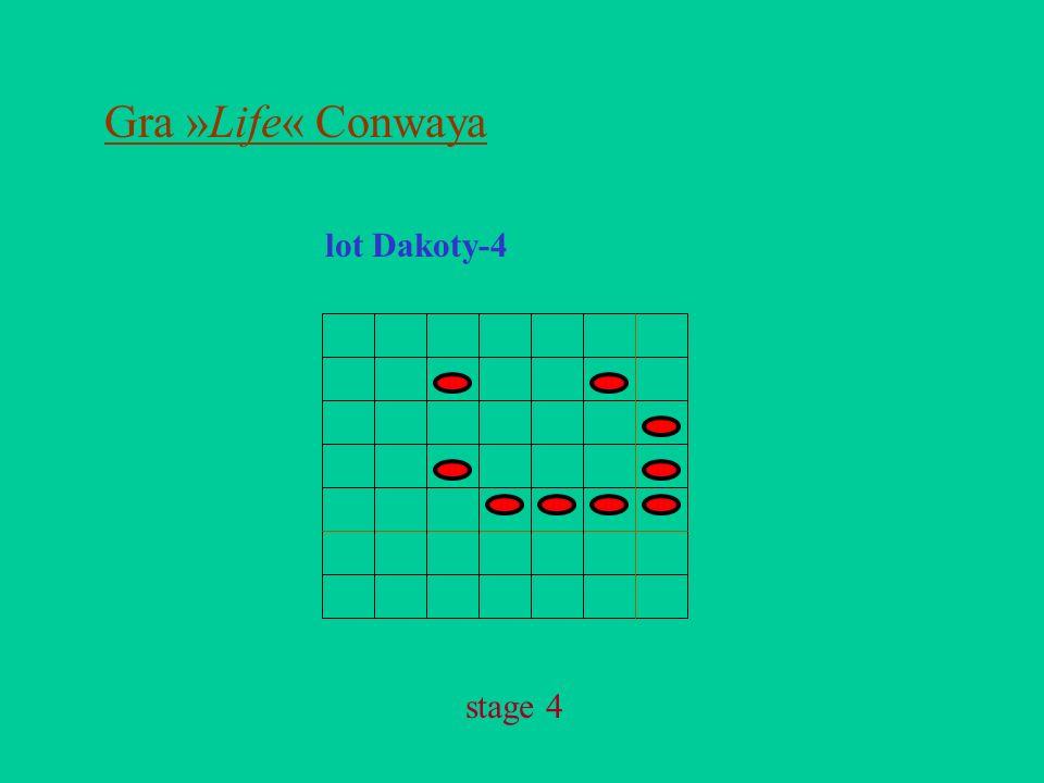 Gra »Life« Conwaya lot Dakoty-4 stage 4