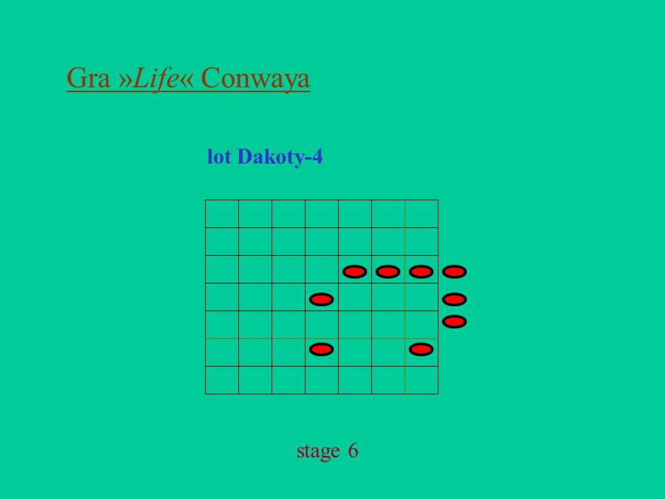Gra »Life« Conwaya lot Dakoty-4 stage 6