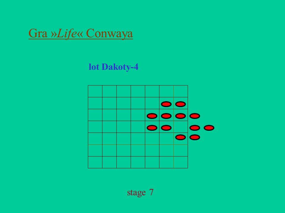 Gra »Life« Conwaya lot Dakoty-4 stage 7