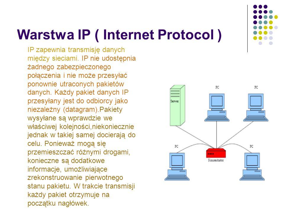 Ataki na sieci TCP/IP Typowe skutki przeprowadzonego ataku to: Nieautoryzowany dostęp wykorzystanie zasobu przez nieuprawnione podmioty, Podszycie się – spreparowanie danych wskazujących na innego nadawcę, Wyciek (przechwycenie) danych, Modyfikacja danych, Przejęcie połączenia sieciowego, Odmowa usługi – uniemożliwienie skorzystania z usługi lub degradacja parametrów jej obsługi.