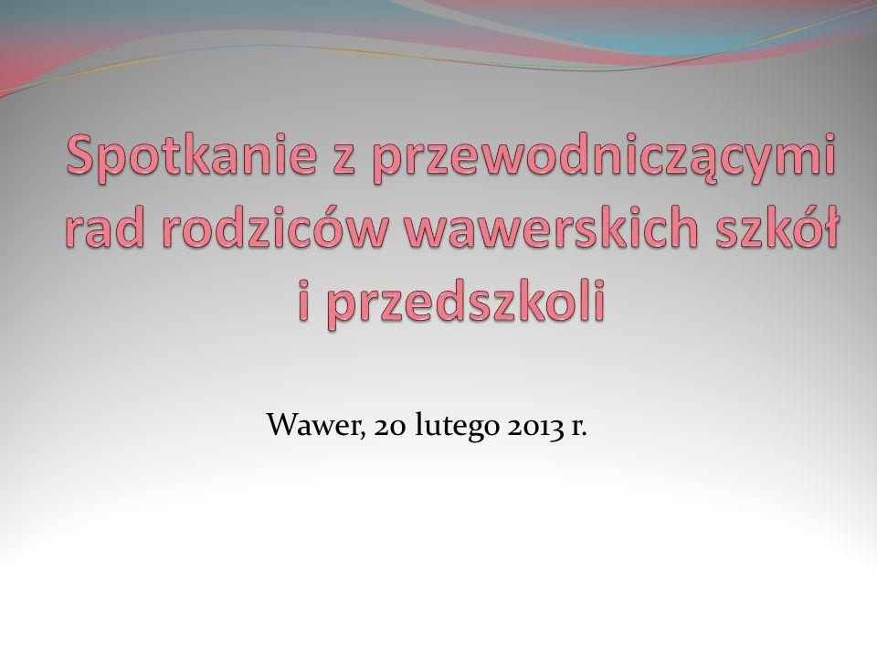 Porządek spotkania Wawerska oświata Pozaedukacyjne funkcje placówek oświatowych Edu Wawer – internetowa strona Wnioski i postulaty