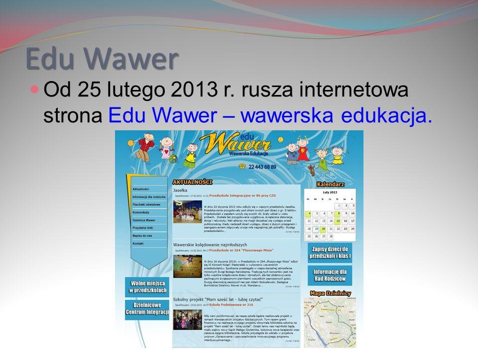 Edu Wawer Serdecznie zapraszamy na naszą stronę internetową www.oswiata.wawer.warszawa.pl