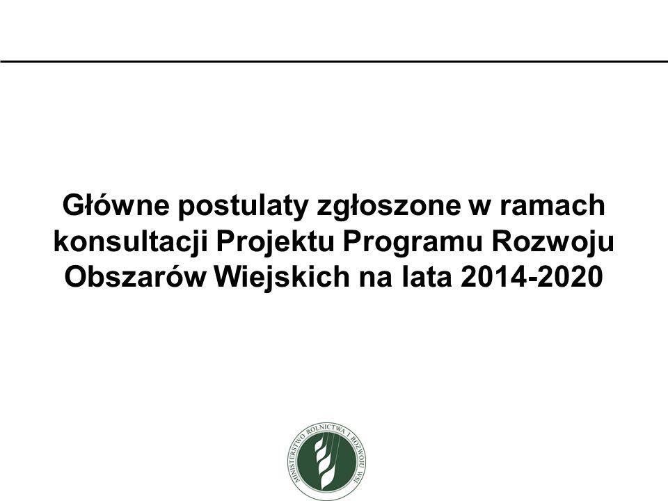 PRIORYTET 2 Działanie: Premia dla młodych rolników Zbyt wysokie wymagania dotyczące gospodarstwa młodego rolnika (zwłaszcza w niektórych województwach): średnia wojewódzka powierzchnia gospodarstwa standardowa produkcja co najmniej 20 tys.