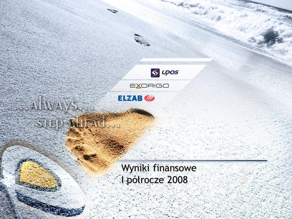 5 Wyniki finansowe 2007 * wyniki jednostkowe Elzab SA z wyłączeniem odpisu wartości spółek zależnych ** Grupa jako suma wyniku jednostkowego Elzab SA oraz spółek Exorigo i Upos