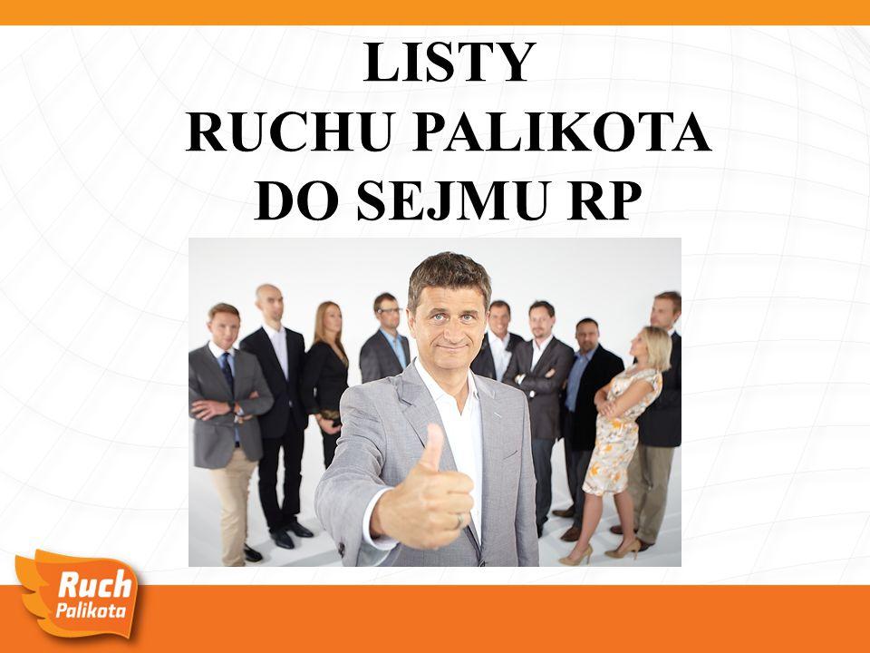 LISTY RUCHU PALIKOTA DO SEJMU RP
