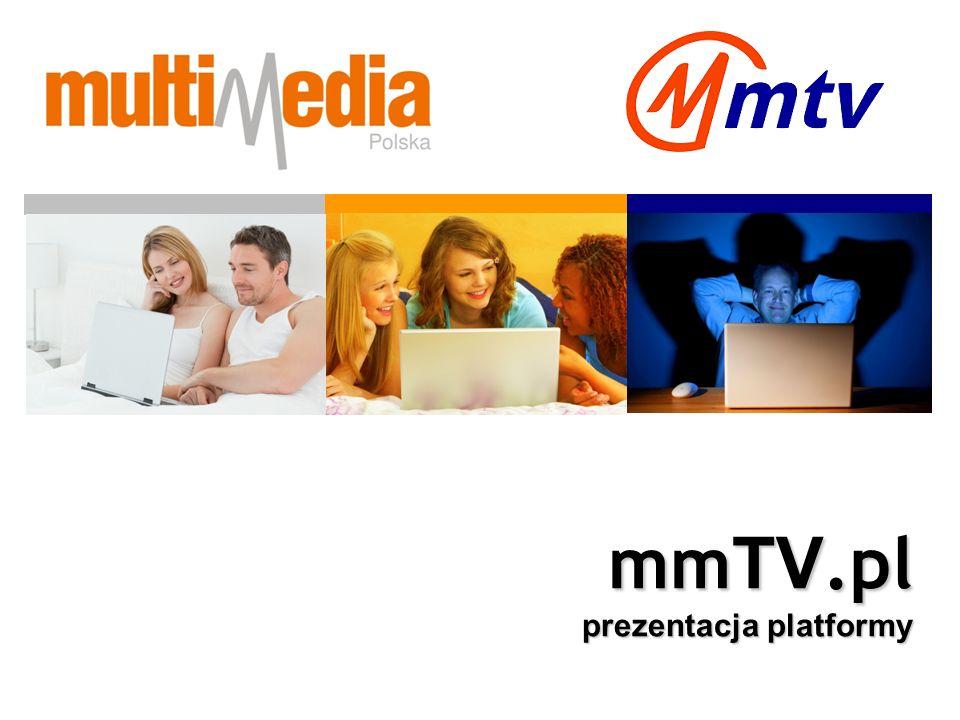 mmTV.pl VoD SVoD TV Live Pakiety Cztery główne kategorie filmowe Silverlight Smoth Streaming PlayReady CDN