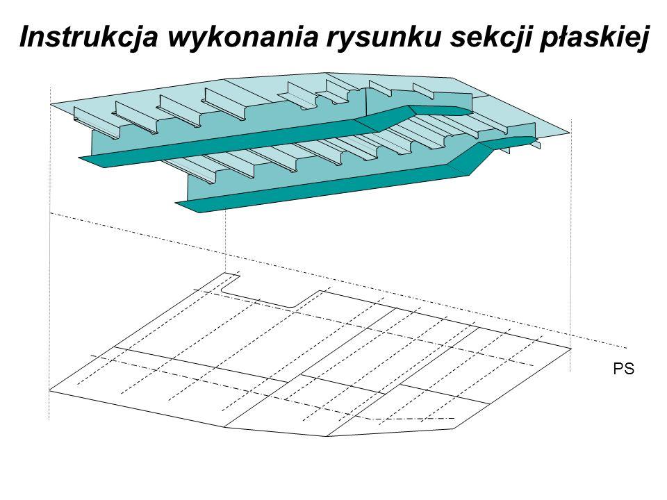 Krok 1. Narysować obrys płata wg rysunku okrętowego