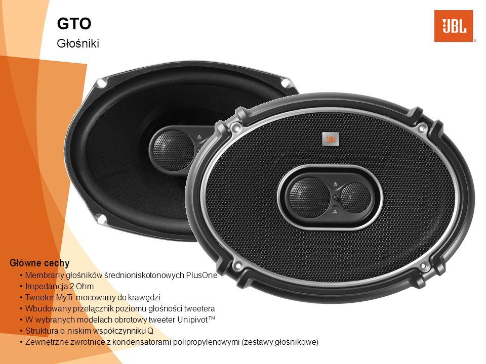 Główne cechy Membrany głośników średnioniskotonowych PlusOne Impedancja 2 Ohm Tweeter MyTi mocowany do krawędzi Wbudowany przełącznik poziomu głośnośc