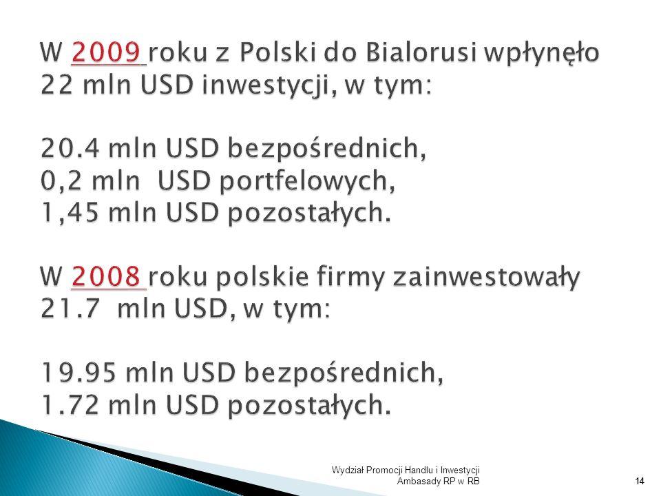 Wydział Promocji Handlu i Inwestycji Ambasady RP w RB14