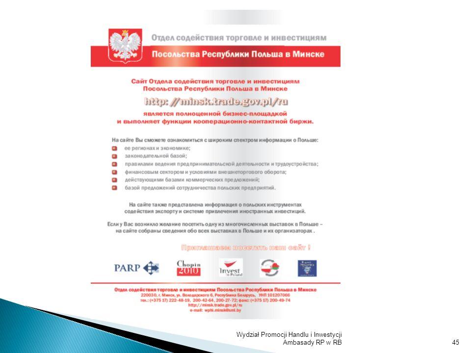 Wydział Promocji Handlu i Inwestycji Ambasady RP w RB45