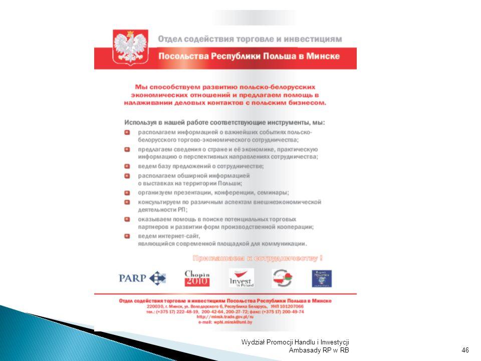 Wydział Promocji Handlu i Inwestycji Ambasady RP w RB46