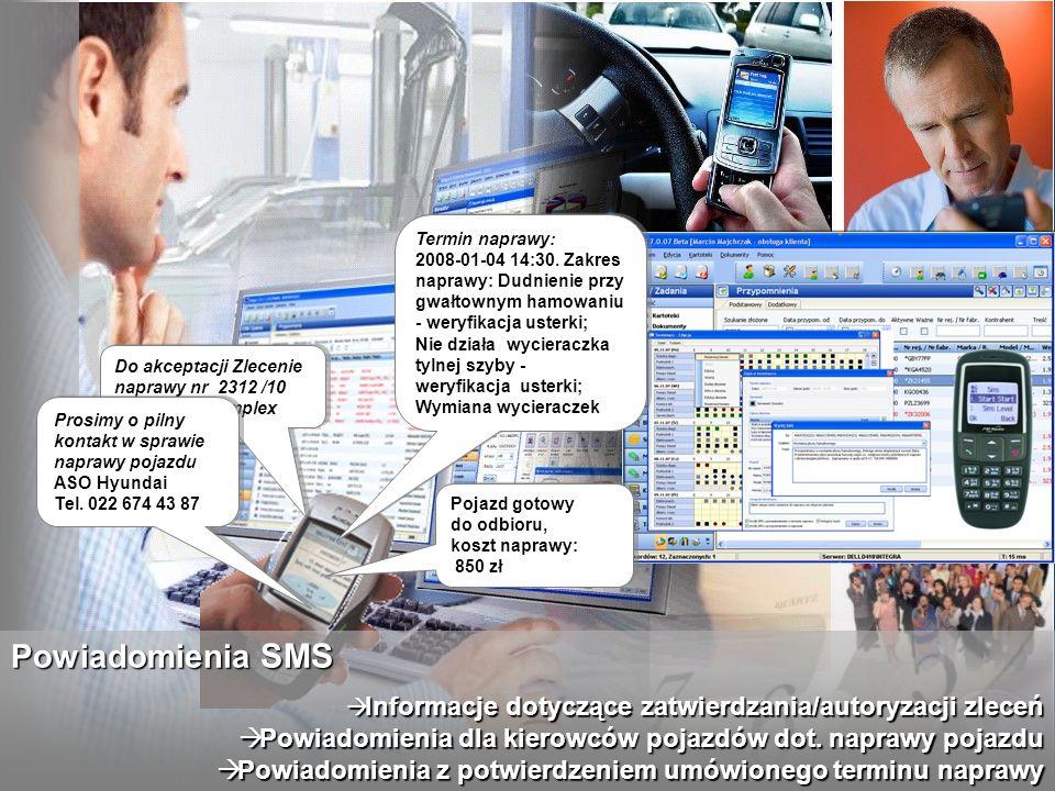 Informacje dotyczące zatwierdzania/autoryzacji zleceń Informacje dotyczące zatwierdzania/autoryzacji zleceń Powiadomienia dla kierowców pojazdów dot.