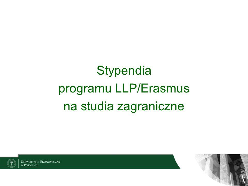 Wyjazdy studyjne w ramach programu Erasmus Lifelong Learning Programme Program edukacyjny Unii Europejskiej ERASMUS komponent odnoszący się do szkolnictwa wyższego dot.