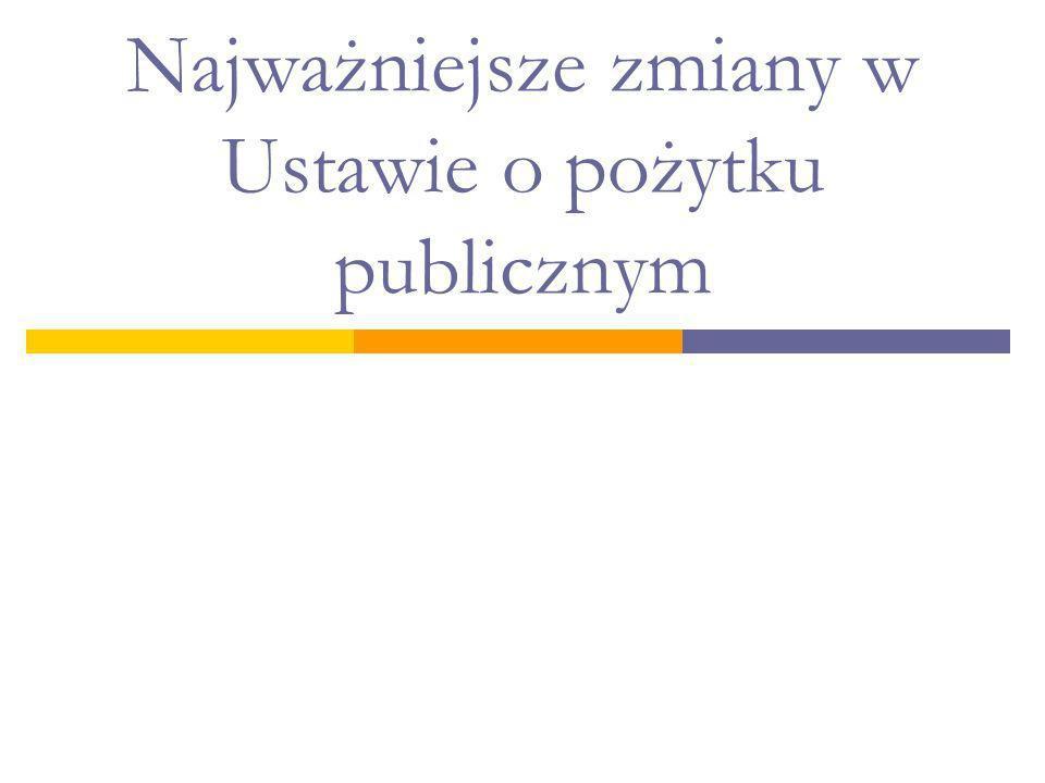 Najważniejsze zmiany w Ustawie o pożytku publicznym