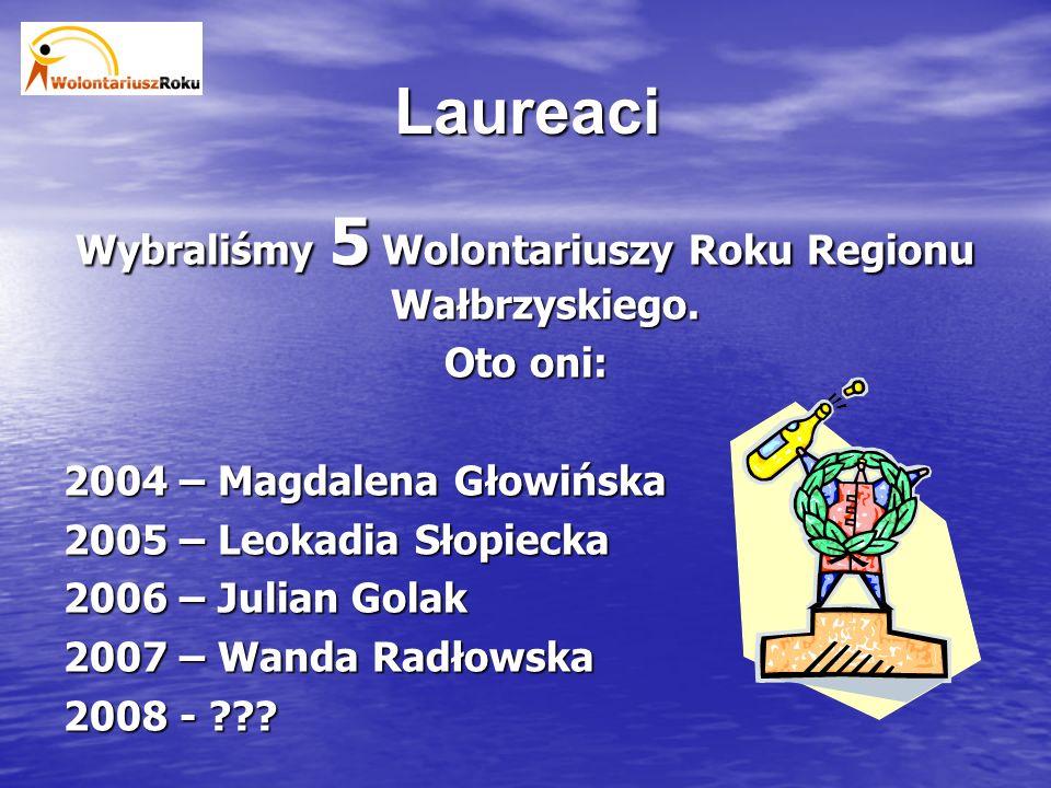 Organizacja 15 pracowników, stażystów i wolontariuszy Regionalnego Centrum Wspierania Inicjatyw Pozarządowych oraz Fundacji Merkury jest zaangażowanych co rok w organizację Konkursu oraz podsumowującej go Gali Wolontariatu.
