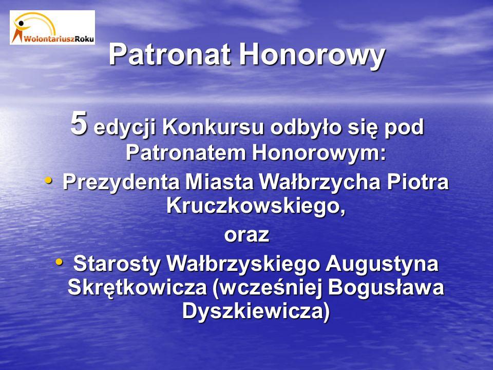 Patronat Honorowy 5 edycji Konkursu odbyło się pod Patronatem Honorowym: Prezydenta Miasta Wałbrzycha Piotra Kruczkowskiego, oraz Starosty Wałbrzyskiego Augustyna Skrętkowicza (wcześniej Bogusława Dyszkiewicza)