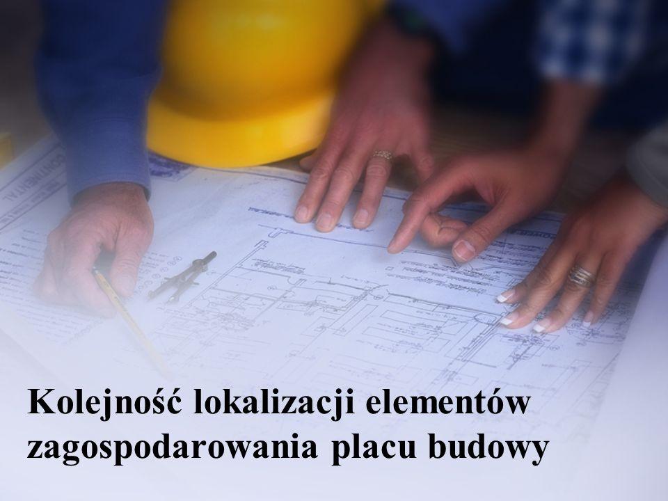Kolejność lokalizacji elementów zagospodarowania placu budowy