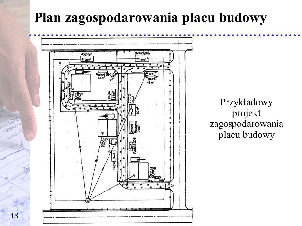 Przykładowy projekt zagospodarowania placu budowy 48