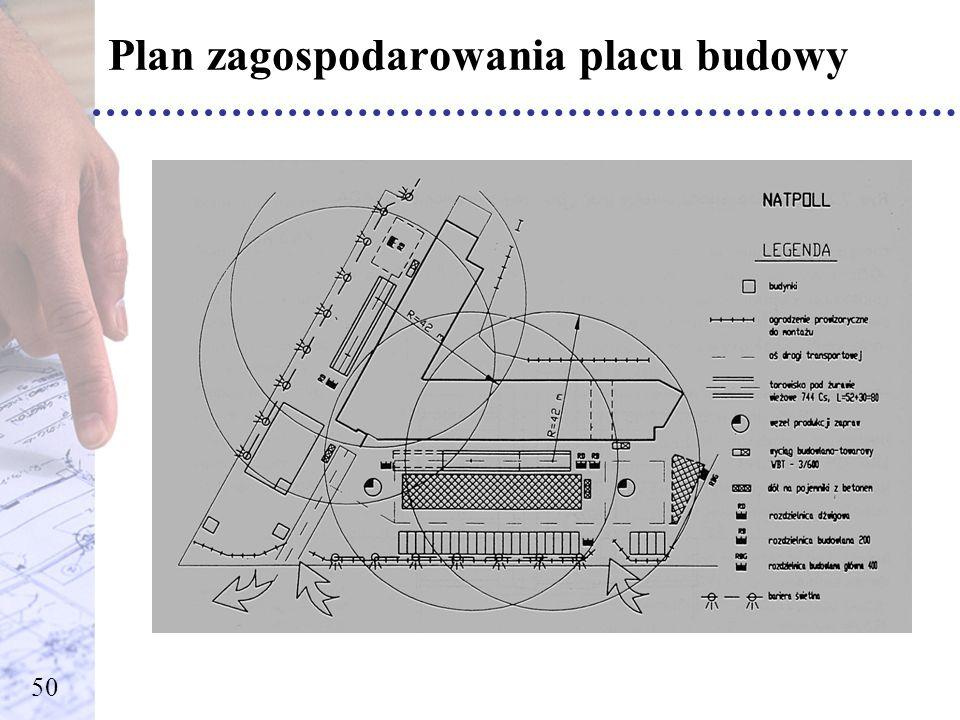 Plan zagospodarowania placu budowy 50