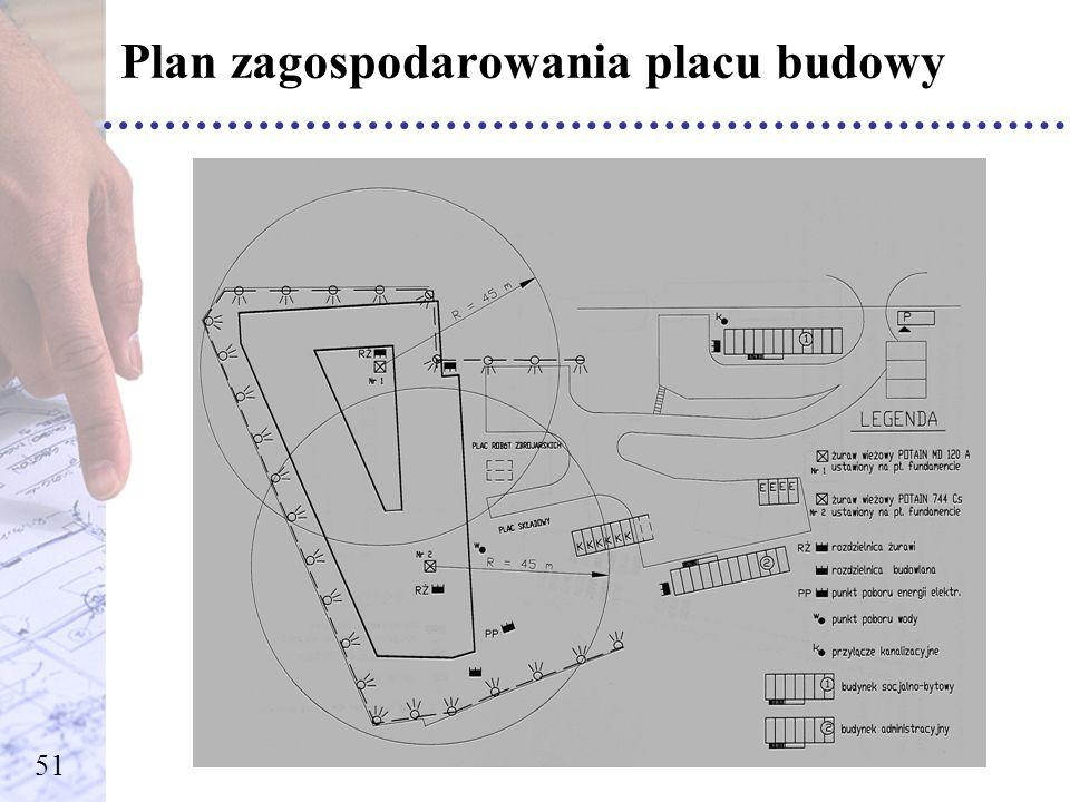 Plan zagospodarowania placu budowy 51