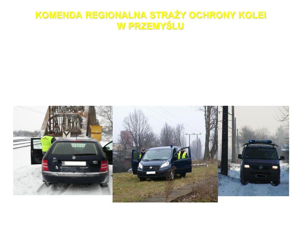 KOMENDA REGIONALNA STRAŻY OCHRONY KOLEI W PRZEMYŚLU Komenda Regionalna Straży Ochrony Kolei w Przemyślu wraz z podległymi Posterunkami posiada oznakow