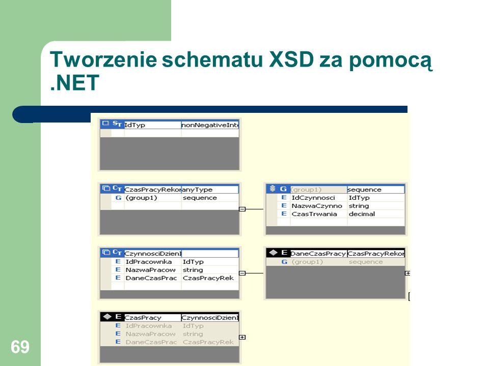69 Tworzenie schematu XSD za pomocą.NET