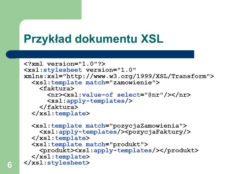 6 Przykład dokumentu XSL
