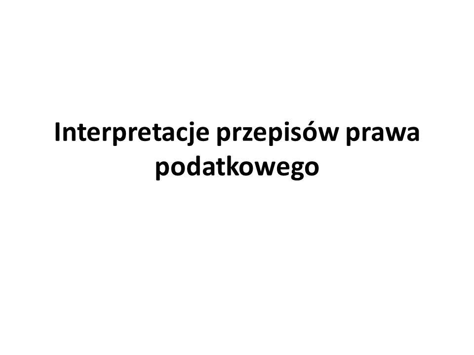 Rodzaje interpretacji ogólneindywidualne Z urzęduNa wniosek