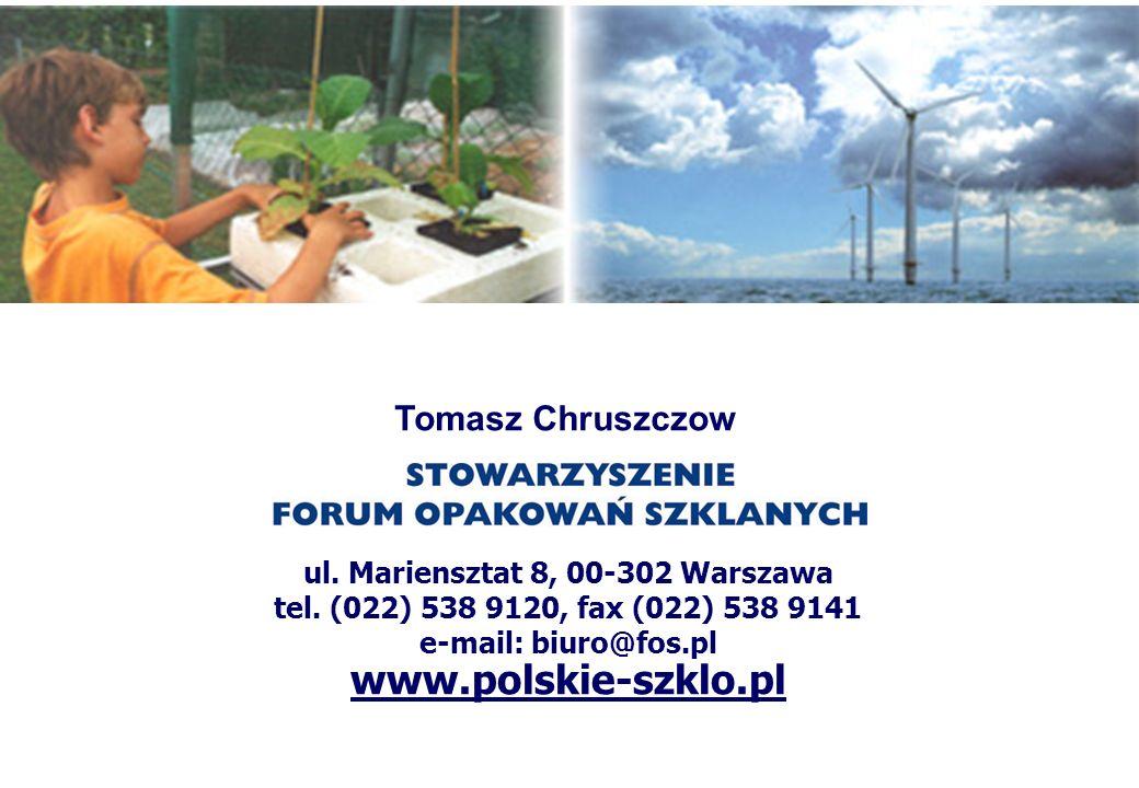 ul. Mariensztat 8, 00-302 Warszawa tel. (022) 538 9120, fax (022) 538 9141 e-mail: biuro@fos.pl www.polskie-szklo.pl Tomasz Chruszczow