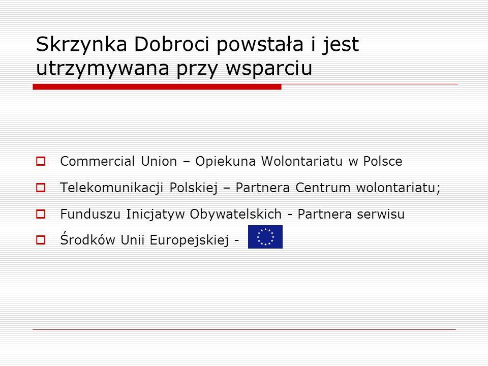 Skrzynka Dobroci dostępna jest pod adresem www.wolontariat.org.pl/bazadanych