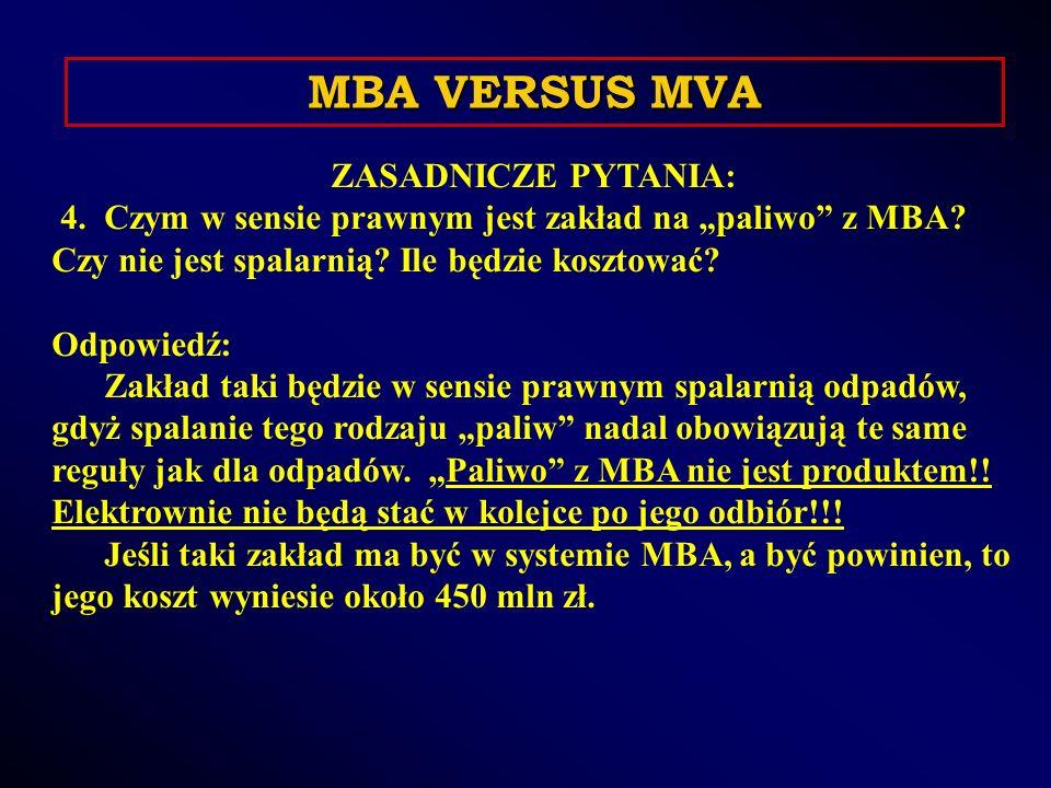 ZASADNICZE PYTANIA: 4. Czym w sensie prawnym jest zakład na paliwo z MBA.