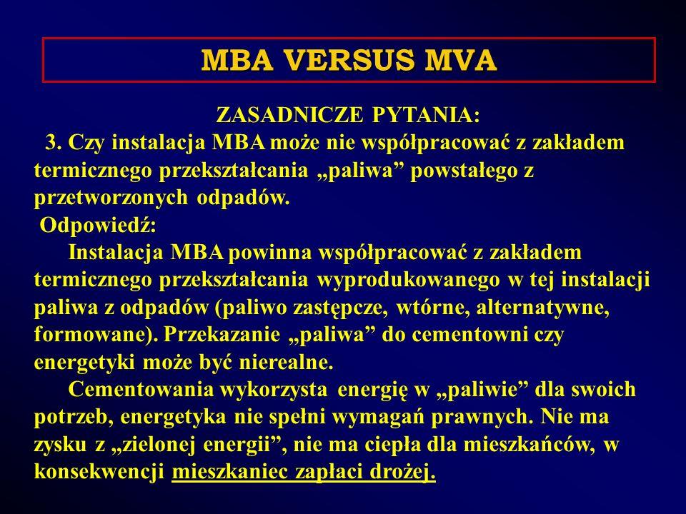 ZASADNICZE PYTANIA: 4.Czym w sensie prawnym jest zakład na paliwo z MBA.