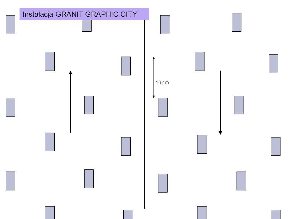 Instalacja GRANIT GRAPHIC CITY 16 cm