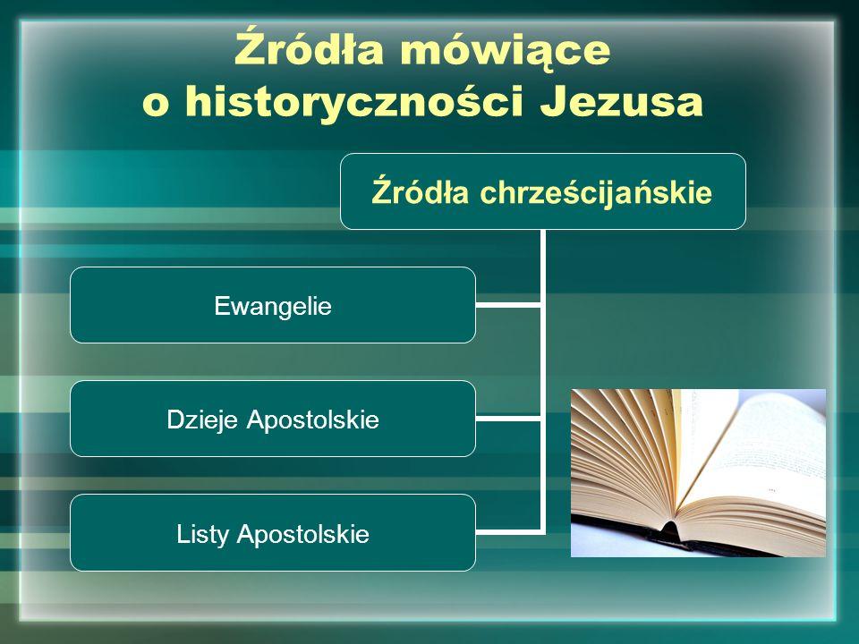 Źródła mówiące o historyczności Jezusa Źródła pozachrześcijańskie Świadectwa pisarzy żydowskich TalmudJózef Flawiusz Świadectwa pisarzy rzymskich Swetoniusz Tacyt Pliniusz Młodszy I to właśnie tym źródłom przyjrzymy się bliżej…