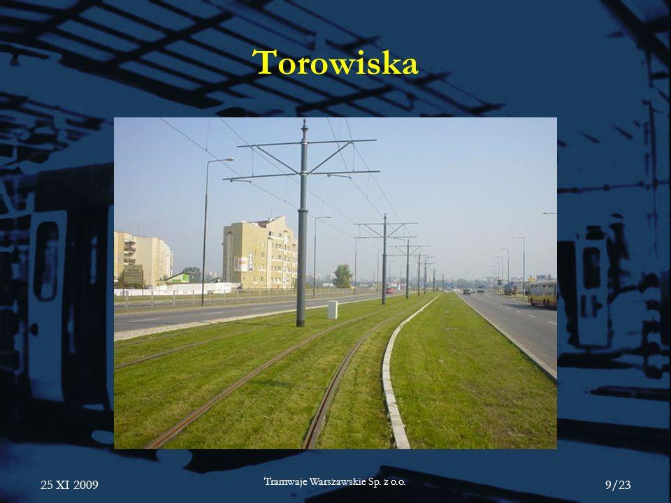 25 XI 2009 Tramwaje Warszawskie Sp. z o.o. 9/23 Torowiska