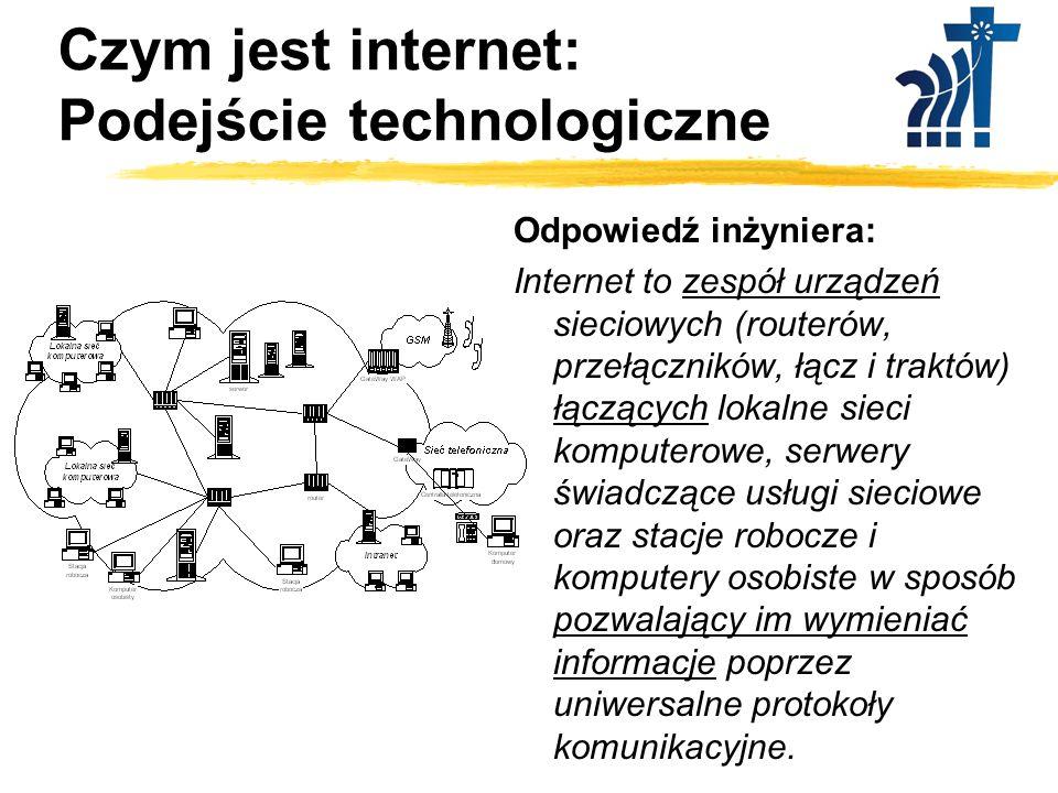 Czym jest internet ? Podejście technologiczne