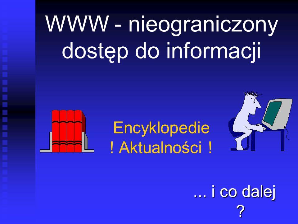 WWW - nieograniczony dostęp do informacji Encyklopedie ! Aktualności !... i co dalej ?