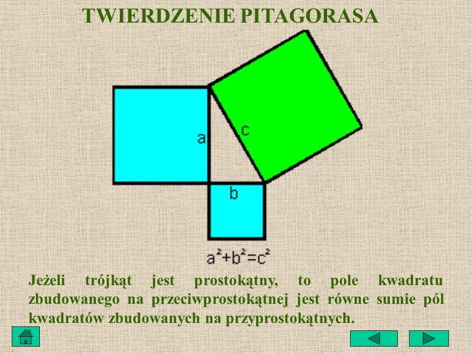 Długości boków trójkąta prostokątnego i pola kwadratów zbudowanych na bokach tego trójkąta. Jaki wyciągniesz wniosek?