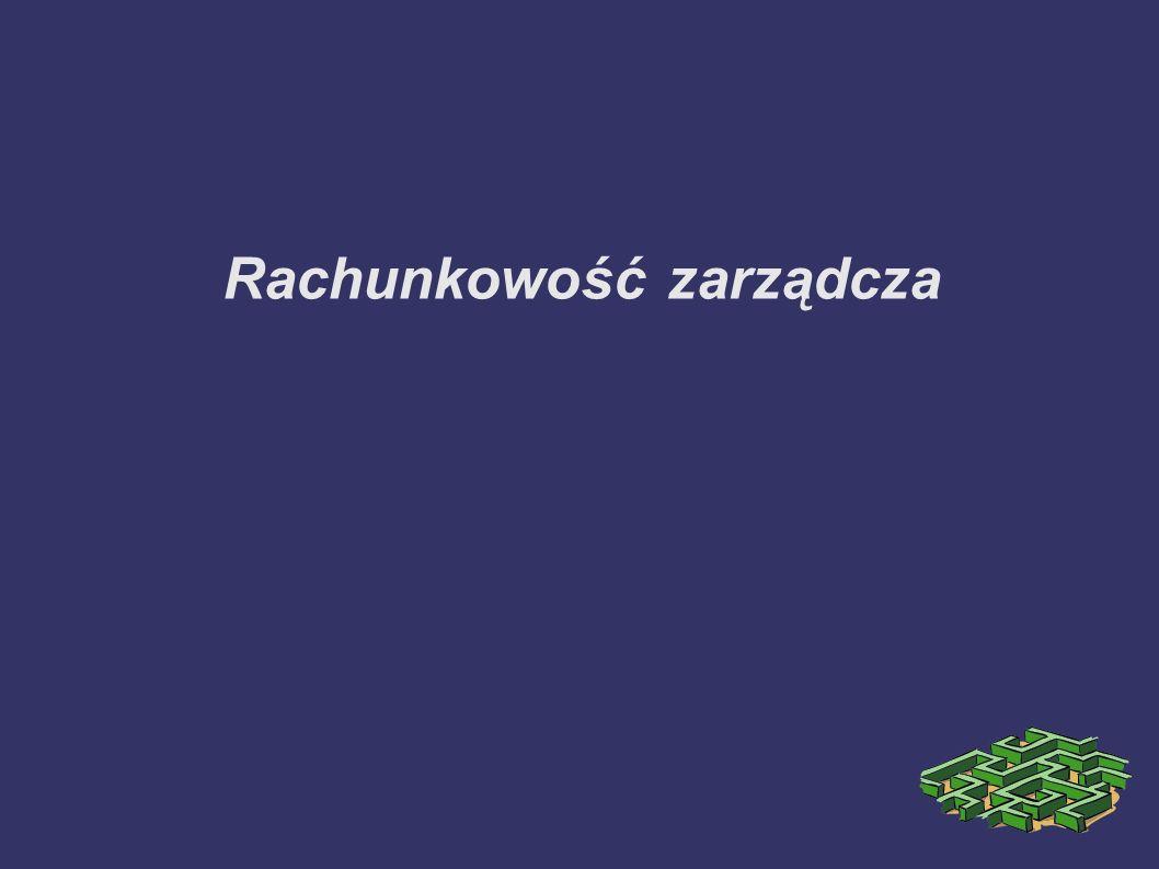 Rachunkowość zarządcza i rachunek kosztów TOM II, praca zbiorowa pod redakcją Gertrudy Krystyny Świderskiej, Difin, Warszawa, 2002, cena 60,- Rachunek kosztów i rachunkowość zarządcza.