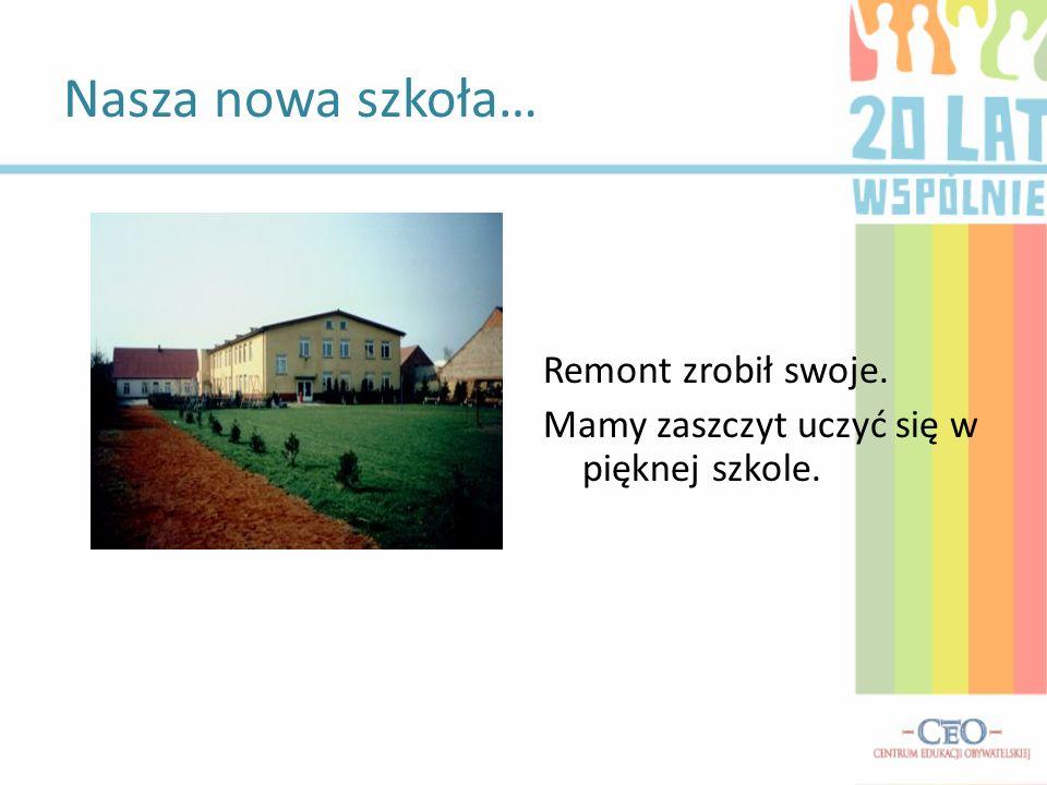 Nasza nowa szkoła… Remont zrobił swoje. Mamy zaszczyt uczyć się w pięknej szkole.