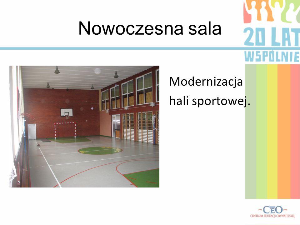 Nowoczesna sala Modernizacja hali sportowej.