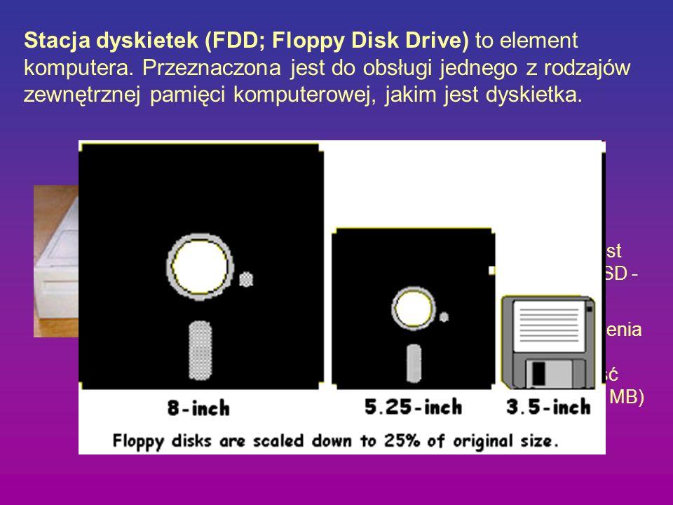 Stacja dyskietek (FDD; Floppy Disk Drive) to element komputera. Przeznaczona jest do obsługi jednego z rodzajów zewnętrznej pamięci komputerowej, jaki