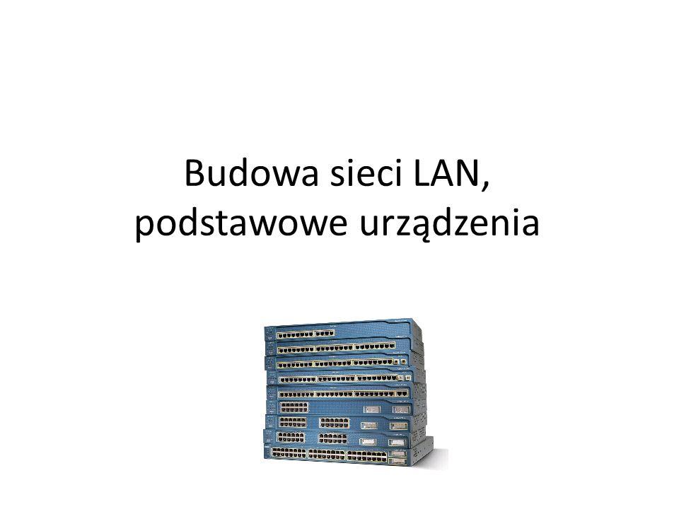 Budowa sieci LAN, podstawowe urządzenia